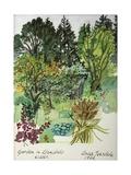 Garden in Llandielo, 1999 Giclee Print by Anna Teasdale