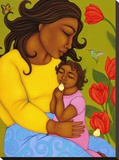 Mother and Child Stretched Canvas Print by Tamara Adams