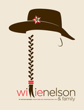 Willie Nelson & Family Sérigraphie par Mike Klay