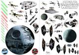 Guerre Stellari - Navi da guerra (sticker murale) Decalcomania da muro