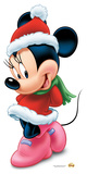 Minnie Mouse Christmas Lifesize Standup Pappfigurer