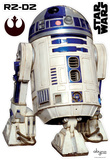 Star Wars - R2D2 (scale 1) Autocollant mural
