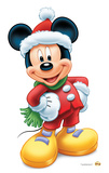 Mickey Mouse Christmas Lifesize Standup Silhouette en carton