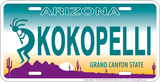 Arizona - Kokopelli License Plate License Plate Tin Sign Tin Sign