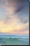 Capella di Vitaleta at Dawn – Tuscany II Stretched Canvas Print by Andy Mumford