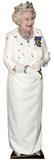 Queen Elizabeth wearing crown Lifesize Standup Pappfigurer