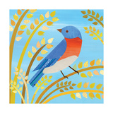 American Birds - Blue Bird Reproduction procédé giclée par Lorena Siminovich