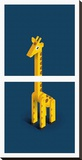 Giraffe Stretched Canvas Print by Bo Virkelyst Jensen