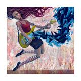 Orca Schilderij van Aaron Jasinski