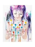 Pink Bird Poster von Lora Zombie