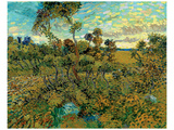 Sunset at Montmajour Premium Giclee Print by Vincent van Gogh