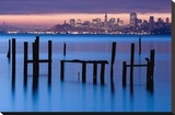 Bay Pilings – Sausalito Stretched Canvas Print by Jeffrey Murray
