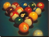 Eight Ball II Stretched Canvas Print by TR Colletta