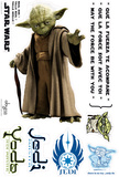 Star Wars - YODA (scale 1) Autocollant mural