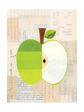 Fruit Collage - Green Apple Giclee Print by Lorena Siminovich