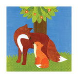 Forest Babies - Fox Family Giclee Print by Lorena Siminovich