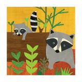 Forest Babies - Raccoon Family Reproduction procédé giclée par Lorena Siminovich
