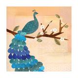 Paon bleu Reproduction procédé giclée par Lorena Siminovich