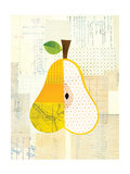 Fruit Collage - Yellow Pear Giclee Print by Lorena Siminovich