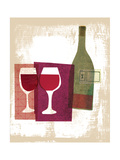 Wine and Dine - Red Wine Giclee Print by Lorena Siminovich