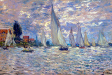 Claude Monet Les Barques Poster Poster by Claude Monet