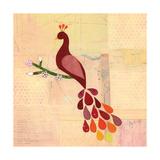 Deep Red Peacock Giclee Print by Lorena Siminovich