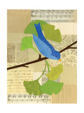 Blue Bird on Ginko Giclee Print by Lorena Siminovich