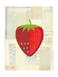 Fruit Collage - Red Strawberry Giclee Print by Lorena Siminovich