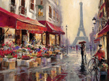 April i Paris Poster av Brent Heighton