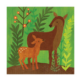 Forest Babies - Deer Family Giclee Print by Lorena Siminovich