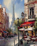 Tour De Eiffel View Print by Brent Heighton