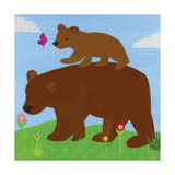 Forest Babies - Bear Family Giclee Print by Lorena Siminovich