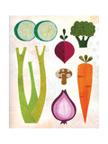 Cornucopia - Vegetables Giclee Print by Lorena Siminovich