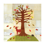 Seasons - Fall Tree Giclee Print by Lorena Siminovich