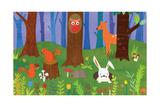 Friendly Forest Giclée-Druck von Lorena Siminovich
