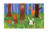 Friendly Forest Giclee Print by Lorena Siminovich