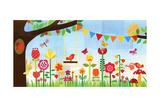 Floral Garden Giclée-Druck von Lorena Siminovich