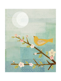 Yellow Bird with Blossoms Reproduction procédé giclée par Lorena Siminovich