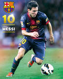 Barcelona Lionel Messi (number 10) 2012/13 Action Poster Póster