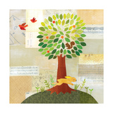 Seasons - Spring Tree Giclee Print by Lorena Siminovich