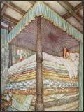 The Princess and the Pea Framed Canvas Print by Edmund Dulac