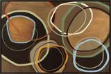 14 Friday I - Brown Circle Abstract Framed Canvas Print by Jeni Lee
