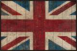 Union Jack Framed Canvas Print by Avery Tillmon