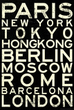 Cities of the World RetroMetro Travel Poster Prints