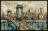 New York View Framed Canvas Print by Silvia Vassileva