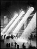 Sunbeams in Grand Central Station Framed Canvas Print