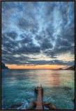 The Pier at the End of Times Framed Canvas Print by Trey Ratcliff