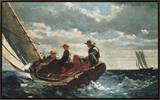 Breezing Up (A Fair Wind) Framed Canvas Print by Winslow Homer