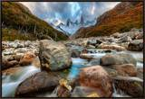 The River Runs Through the Andes Framed Canvas Print by Trey Ratcliff