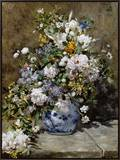 Spring Bouquet Framed Canvas Print by Pierre-Auguste Renoir